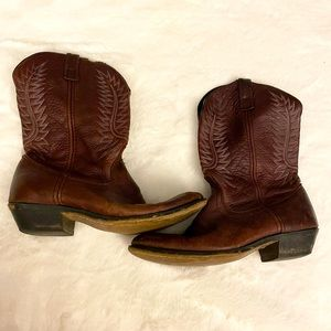 Leather Cowgirl Boots
